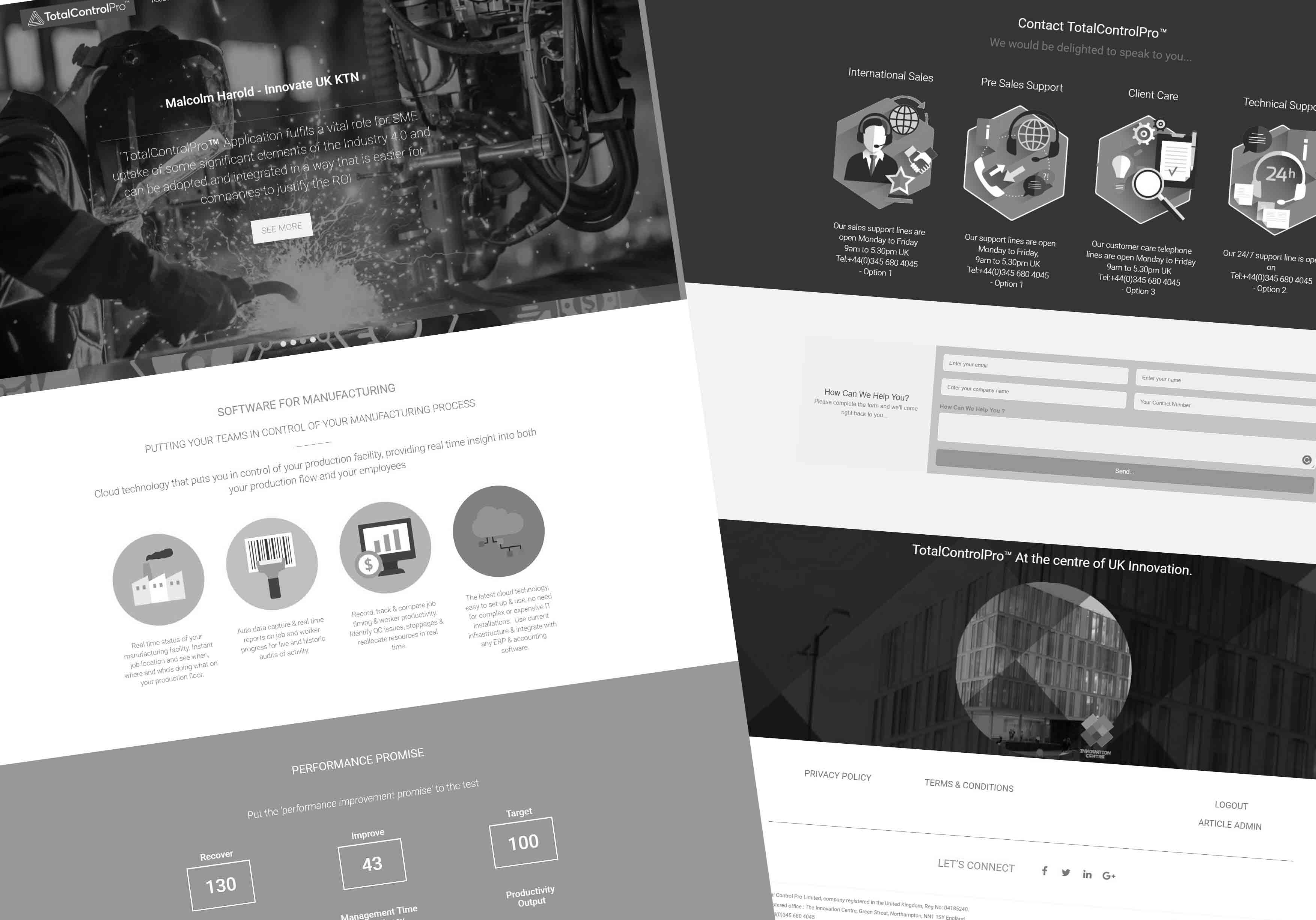 Old TotalControlPro Website Screenshot