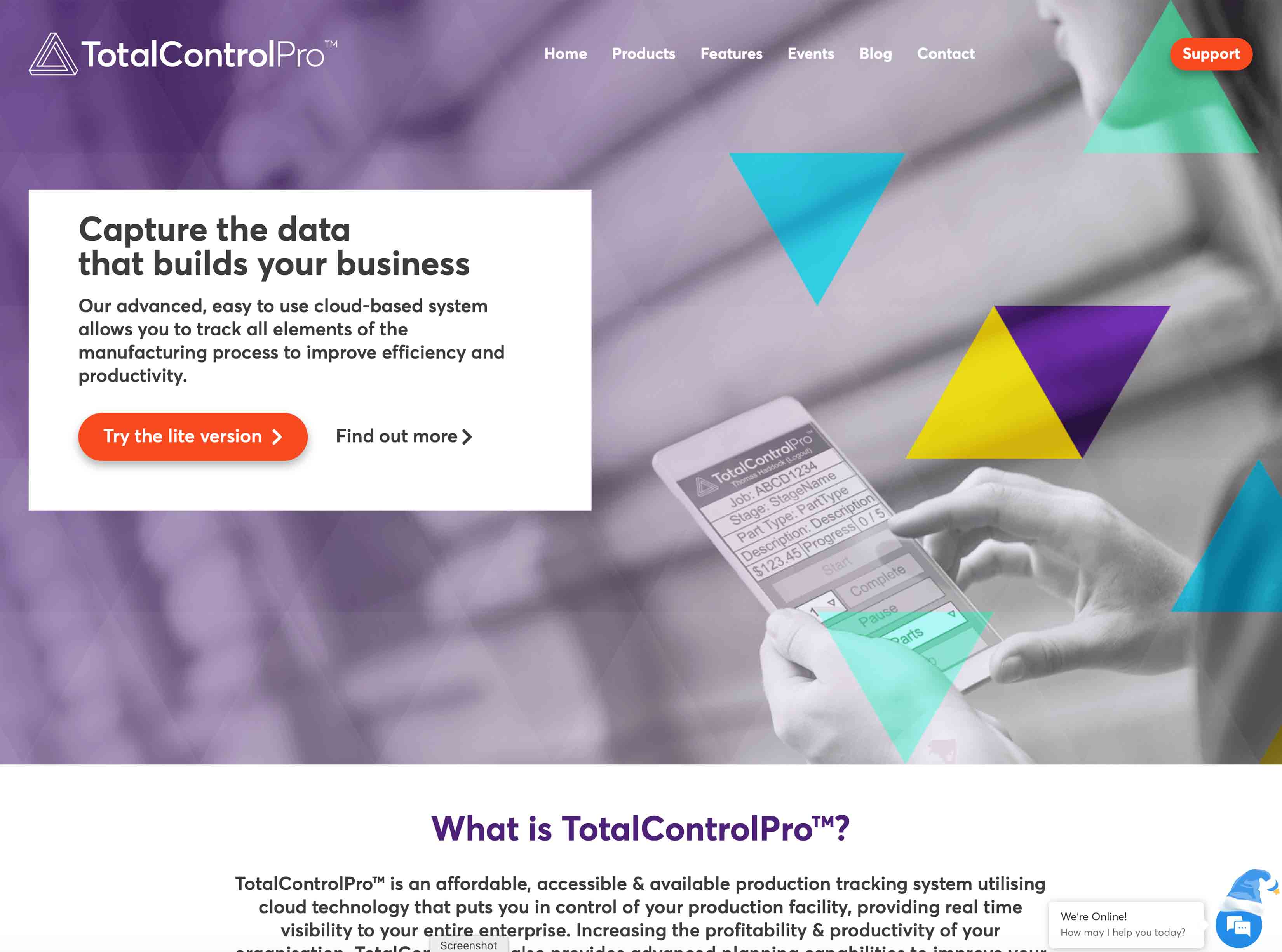 New TotalControlPro Website Screenshot
