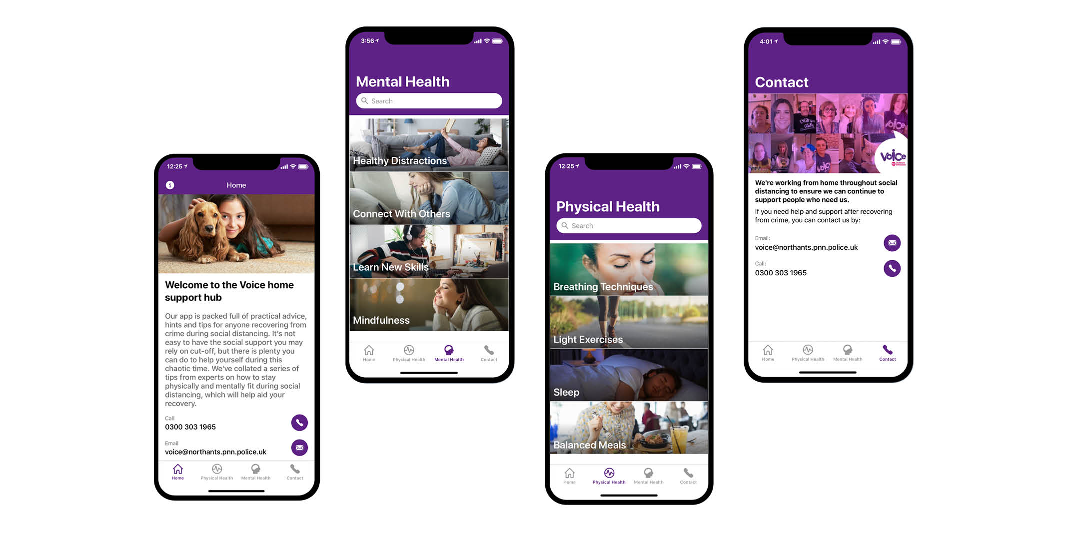 Voice Home Support Hub App